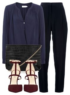 Untitled #4870 by laurenmboot on Polyvore featuring polyvore, fashion, style, Velvet, Acne Studios, Nine West and Topshop