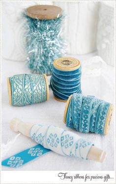 Pretty ribbons for wrapping