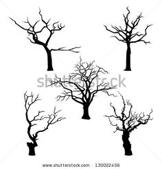 Collection of trees silhouettes by Legolena, via ShutterStock
