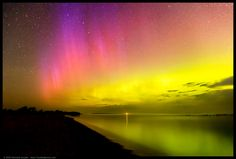Aurora Borealis - Sleeping Bear Bay, Lake Michigan, Michigan