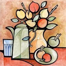 Resultado de imagem para só pinturas de jarros em telas