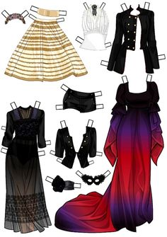 Poupées à habiller avec de jolis vétements , à imprimer et à découper !