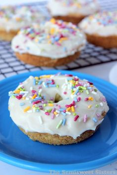 oven baked cake donuts frosted