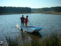 kids having fun on the boating dam at Brightside