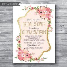 Bridal Shower InvitationWedding Shower Invite by HeartsandCouture