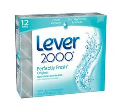 Lever 2000 Moisturizing Bar, Perfectly Fresh Original , 4Ounce Bars in 12Count Packages (Pack of 2) by Lever 2000, http://www.amazon.com/dp/B001ECQ4X0/ref=cm_sw_r_pi_dp_aHHRrb1JSXJ45.  My favorite soap bar!  Love this fresh scent so much!!!  Can be purchased also at Walmart, Kmart, Walgreens, Target, and so on!