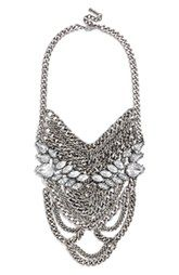 BaubleBar 'Crystal Sheba' Bib Necklace