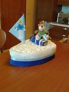 Torta di pannolini barchetta diapers cake