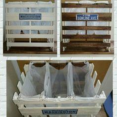 nasuka88さんの、キッチン,ゴミ箱,100均,DIY,セリア,すのこ,ナンバープレート,リバーシブル,ゴミ箱 分別,のお部屋写真