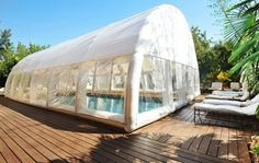 inflatable pool enclosure