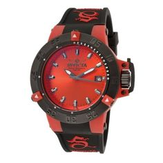 Invicta Womens 10130 Subaqua Noma III Red Dial Black Polyurethane Watch -- Find out more about the great product at the image link.(It is Amazon affiliate link) #my
