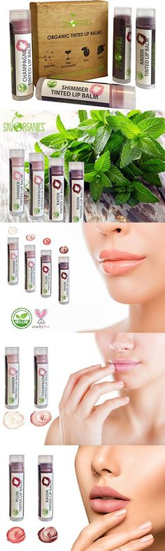 Organic Tinted Lip Balm by Sky Organics – 4 Pack Assorted Colors –- With Beeswax, Coconut Oil, Cocoa Butter, Vitamin E- Minty Lip Plumper for Dry, Chapped Lips- Tinted Lip Moisturizer. Made in USA Tinted Lip Balm, Lip Tint, Chapped Lips, Lip Plumper, Tinted Moisturizer, Cocoa Butter, Vitamin E, Natural Makeup, Coconut Oil