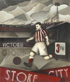 Beautiful Games: nostalgic paintings by Paine Proffitt - Stoke City