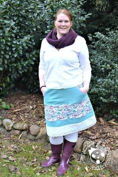 Freebook - Freebook-Sunday - Nähen - Rock - Lady Sweat Skirt - LinKim - Damen - Kinder - Glückpunkt.