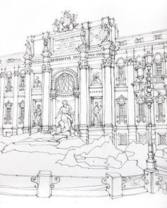 "Sketch ""Rome.Fountain Travi"" by  @xtina_gavrilova_art  в Instagram: #aquarell #art #painting #watercolor #watercolour #sketch  #paint  #drawing #sketching #sketchbook #travelbook #archisketcher #sketchaday #sketchwalker #sketchcollector  #artjournal #traveldiary #topcreator #usk  #urbansketch #urbansketchers #скетчбук #скетч #скетчинг #pleinair #aquarelle #watercolorsketch #usk #architecture #painting #illustration #Rome #italy #fountain"