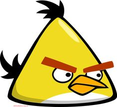 """The """"Yellow Bird,"""" a wild canary, from the original 2009 release of Rovio's """"Angry Birds"""" Angry Birds Yellow Bird, Cumpleaños Angry Birds, Festa Angry Birds, Angry Birds Chuck, Angry Birda, 2 Clipart, Image Clipart, Clipart Images, Angry Birds Characters"""