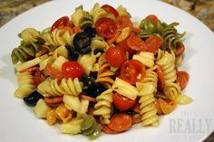 Light and Delicious Tri-Color Pasta Salad