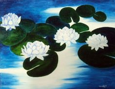 'Lilies' is a 16 x 20 oil painting. The original and pro prints are available at brandycraft.com.