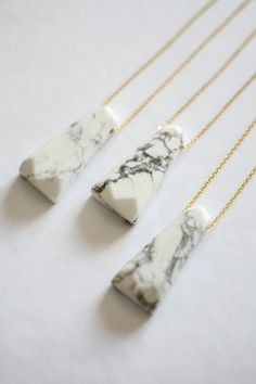 Howlite Necklace, Gemstone Pendant Necklace, Geometric Neclace, Birthstone Necklace, Marble Look Necklace, Boho Necklace, Tribal Necklace
