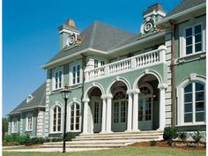 Eplans NeoClassical House Plan - Elegant Estate - 5130 Square Feet and 4 Bedrooms from Eplans - House Plan Code Neoclassical Architecture, Roman Architecture, Kitchen Keeping Room, Architectural Design House Plans, Architectural Styles, Plan Design, Exterior Design, Luxury Homes, Beautiful Homes