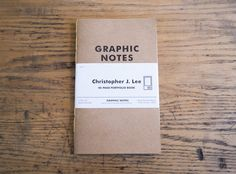 Christopher J Lee - Behance project.  A cool Field Notes execition