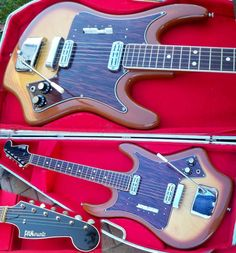 Love this PANaramic guitar; looks like something House Industries might have designed.