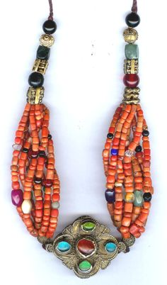 Gilt silver with coral necklace, Morocco. private collection Linda Pastorino