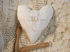 Quilt Heart Collage Ornament Cottage Christmas Valentine Primitive Bowl Filler Farmhouse Decor by LRFoxDesign on Etsy