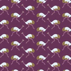 ostrich_purple_littleesop_small fabric by holli_zollinger on Spoonflower - custom fabric