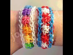 ▶ New Rainbow Loom Star Swirl Bracelet - One or Two Looms - YouTube