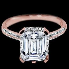 The most perfect Engagement ring EVER! beautiful rose gold