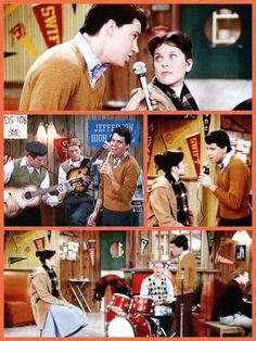 Happy Days - Potsie and he band Happy Days Tv Show, Erin Moran, Laverne & Shirley, Mork & Mindy, Favorite Tv Shows, My Favorite Things, American Graffiti, Tv Land, Him Band