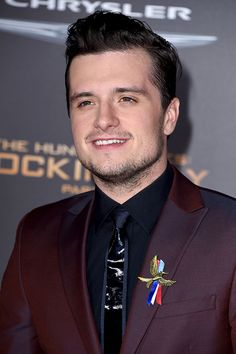 Josh Hutcherson attends the premiere of Lionsgate's 'The Hunger Games: Mockingjay - Part 2' at Microsoft Theater on November 16, 2015 in Los Angeles, California