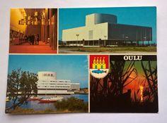 Postcard Oulu, Finland 1978