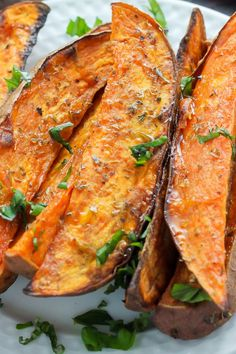 Extra Crispy Sweet Potato Wedges - oven baked and made with simple ingredients. These are SO addicting! Extra Crispy Sweet Potato Wedges - oven baked and made with simple ingredients. These are SO addicting! Ingredients 2 large sweet potatoes, peeled (or… Sweet Potato Wedges Oven, Baked Sweet Potato Oven, Grilled Sweet Potatoes, Sweet Potatoes On Grill, Sweet Potato Bake Recipe, Sweet Potato Fries Crispy, Sweat Potato Fries, Whole30 Sweet Potato Fries, Roasted Sweet Potato Slices