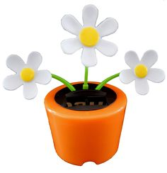 Solar Powered Dancing CRAZY DAISY (ORANGE Pot) - In Bubble Package >>> Find out more about the great product at the image link.