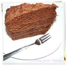 Ce a mai gatit Timea...: Tort delicios de ciocolata