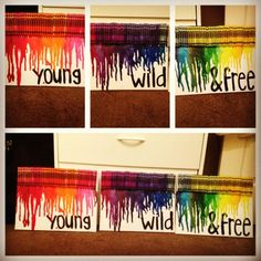 DIY crayon art, tried it out and love it :)