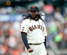 . The San Francisco Giants starting pitcher Johnny Cueto (47) reacts to call against Los Angeles Dodgers in the seventh inning at AT&T Park in San Francisco, Calif., on Sunday, April 10, 2016. (Josie Lepe/Bay Area News Group)
