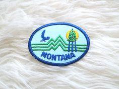 Vintage MONTANA Embroidered Patch by FreshtoDeathVintage on Etsy