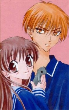 —for hitmewithlightning- Kyo & Tohru from Fruits Basket LOL just ignore Yuki there please… Kyo And Tohru, Yuki Sohma, I Love Anime, Me Me Me Anime, Manga Anime, Anime Art, Fruits Basket Manga, Slice Of Life Anime, Types Of Drawing