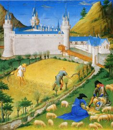 THE PENN STATE MEDIEVAL GARDEN - Harvesting grain during Medieval times