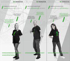 Kolme kapeaa rolluppia, WinNova 2014. Suunnittelu ja taitto: Henna Engren