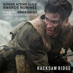 Congratulations to #HacksawRidge on Screen Actors Guild Awards nominations for Best Actor #AndrewGarfield and Best Stunt Ensemble in a Motion Picture! #SAGawards