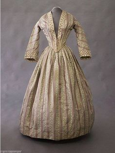 1845 - 1850 afternoon dress