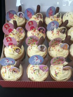 princess  ice cream cone cupcakes  by homemade by june