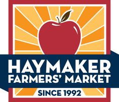 One of two colorways for our Haymaker Farmers' Market identity.