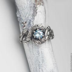 """Купить кольцо из серебра с топазом """"Лесной Полоз"""" в виде змея в интернет магазине на Ярмарке Мастеров"""