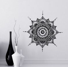 Mandala tatuajes Mehndi vinilo pegatina dormitorio pared