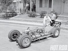 TV Tommy Ivo and his four Buick engined dragster with a young Don Prudhomme as the driver. Ayrton Senna Helmet, Nhra Drag Racing, Auto Racing, Don Prudhomme, Buick Cars, And So It Begins, Old Race Cars, Dirt Track Racing